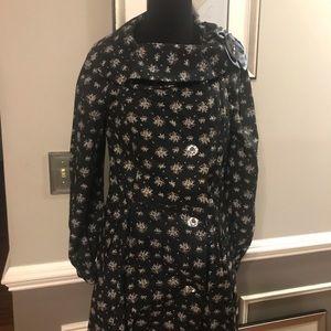 Meghan Fabulous Women's Navy Floral Coat Dress